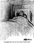 Cowering in bed