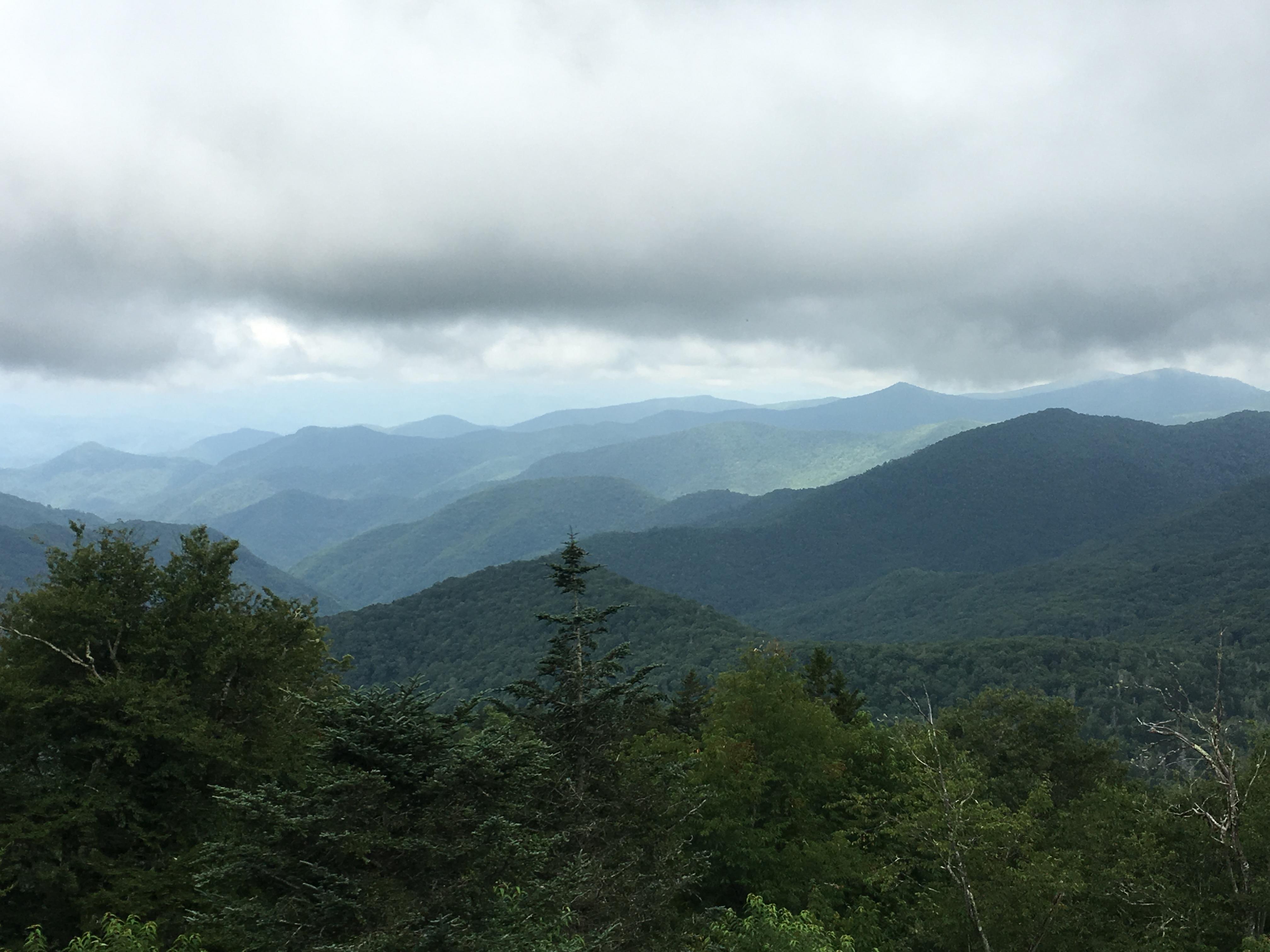 138 - Misty view of Smokeys toward TN